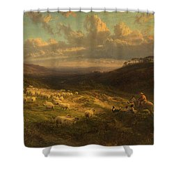 The Closing Day, Scene In Sussex Shower Curtain by George Vicat Cole