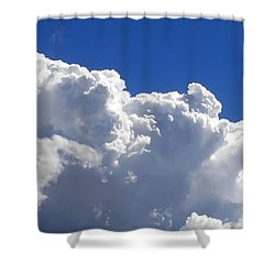 The Cloud Shower Curtain by Kaye Menner