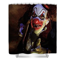 The Clown Shower Curtain by Mary Hood