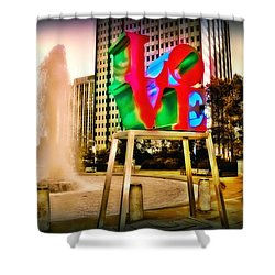 The Color Of Love Shower Curtain by Bill Cannon