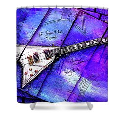 The Concorde On Blue Shower Curtain by Gary Bodnar