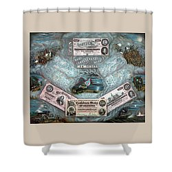 The Confederate Note Memorial  Shower Curtain by War Is Hell Store