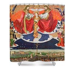 The Coronation Of The Virgin Shower Curtain by Enguerrand Quarton