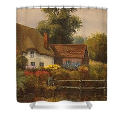The Country Cottage Shower Curtain by Sean Conlon