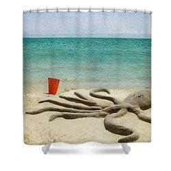 The Creature Shower Curtain by Juli Scalzi