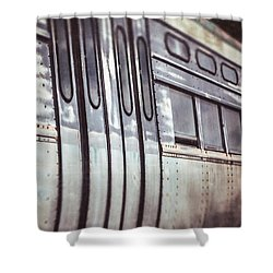 The Cta Train Shower Curtain by Lisa Russo