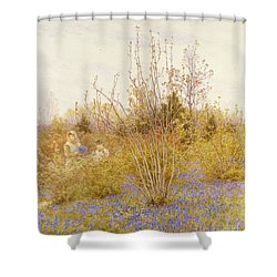The Cuckoo Shower Curtain by Helen Allingham