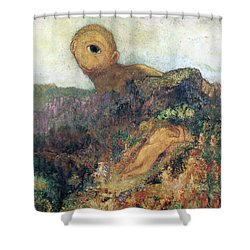 The Cyclops Shower Curtain by Odilon Redon