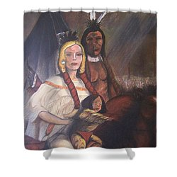 The Cynthia Ann Parker Family Shower Curtain by Laurie Kidd