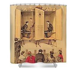 The Davenport Brothers Shower Curtain by English School