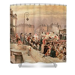 The Departure Of The Volunteers 1792 Shower Curtain by Jean Baptiste Edouard Detaille