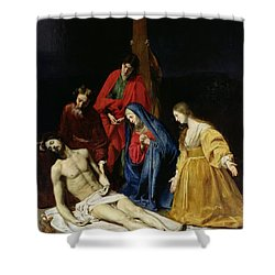 The Descent From The Cross Shower Curtain by Nicolas Tournier