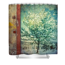 The Door And The Tree Shower Curtain by Tara Turner