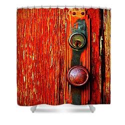 The Door Handle  Shower Curtain by Tara Turner