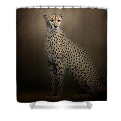 The Elegant Cheetah Shower Curtain by Jai Johnson