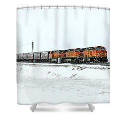 The Eleven Fifteen Shower Curtain by Todd Klassy