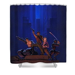 The Eliminators Shower Curtain by Richard Hescox