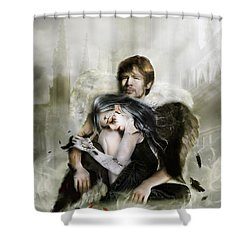 The End Is Nigh Shower Curtain by Mary Hood