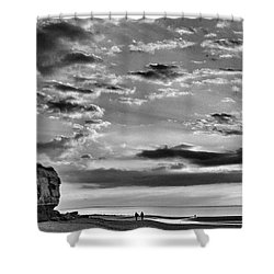 The End Of The Day, Old Hunstanton  Shower Curtain by John Edwards
