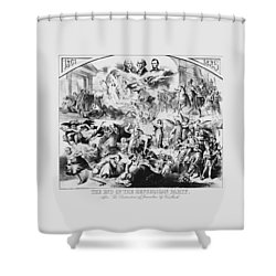 The End Of The Republican Party Shower Curtain by War Is Hell Store
