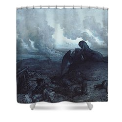 The Enigma Shower Curtain by Gustave Dore