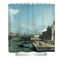 The Entrance To The Grand Canal And The Church Of Santa Maria Della Salute Shower Curtain by Canaletto