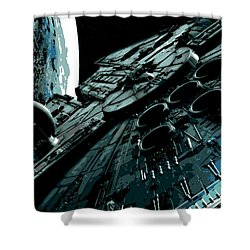 the Falcon Shower Curtain by George Pedro