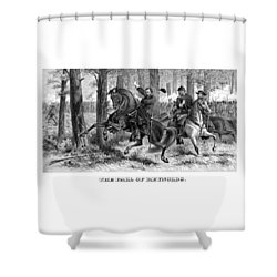 The Fall Of Reynolds Shower Curtain by War Is Hell Store