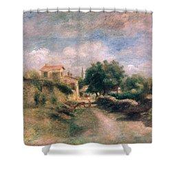 The Farm Shower Curtain by Renoir