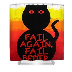 The Fearline Of Failure Shower Curtain by Oliver Johnston