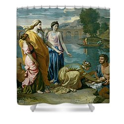 The Finding Of Moses Shower Curtain by Nicolas Poussin