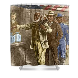 The First Vote 1867 Shower Curtain by Photo Researchers