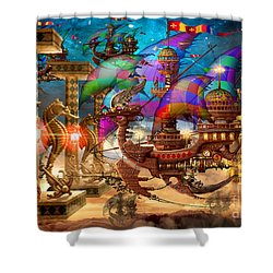 The Fleet Has Arrived Shower Curtain by Ciro Marchetti
