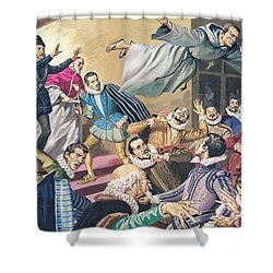 The Flight Of Father Dominic Shower Curtain by English School