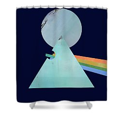 The Floyd's Dark Side Shower Curtain by Jacquie Gouveia