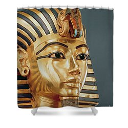 The Funerary Mask Of Tutankhamun Shower Curtain by Unknown