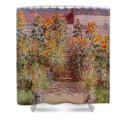 The Garden At Vetheuil Shower Curtain by Claude Monet