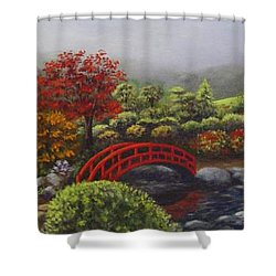 The Garden Of Koan Shower Curtain by Laurie Golden