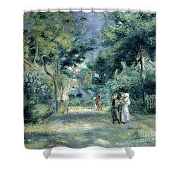 The Gardens In Montmartre Shower Curtain by Pierre Auguste Renoir