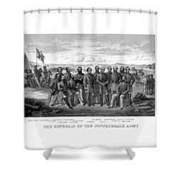 The Generals Of The Confederate Army Shower Curtain by War Is Hell Store
