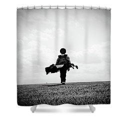 The Golfer Shower Curtain by Shawn Wood