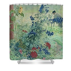 The Grandfather Shower Curtain by Carl Larsson