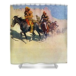 The Great Explorers Shower Curtain by Frederic Remington