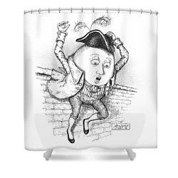The Great Fall Shower Curtain by Adam Zebediah Joseph