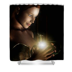 The Hatchling Shower Curtain by John Edwards
