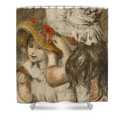 The Hatpin Shower Curtain by  Pierre Auguste Renoir