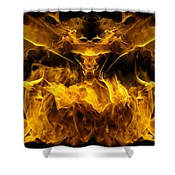 The Heat Of Passion Shower Curtain by Bill Stephens
