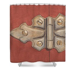The Hinge Shower Curtain by Ken Powers