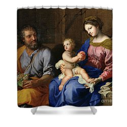 The Holy Family Shower Curtain by Jacques Stella