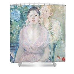 The Hortensia Shower Curtain by Berthe Morisot
